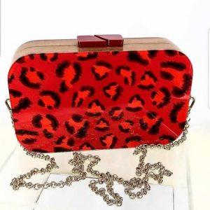 Bag Manhattan Red Animal Print