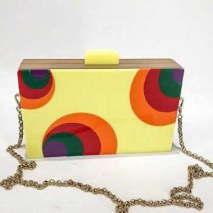 Bag Brooklyn Geometric Yellow