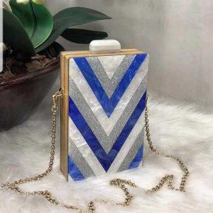 Queen Bag Geometric Blue
