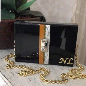 Bag Baú Black Golden