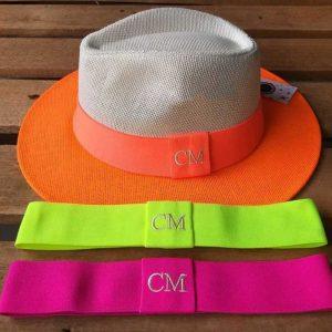Chapéu Panamá Laranja Neon
