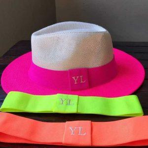 Chapéu Panamá Pink Neon